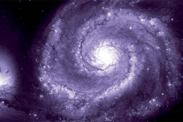 Lila Spiralgalaxie